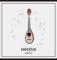 Mandolin isolated icon