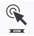 Mouse cursor sign icon Pointer symbol vector image vector image