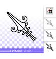 mouse cursor simple black line icon vector image vector image