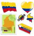 national colours of Colombia vector image vector image