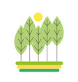 natural trees ecology with spring season vector image vector image