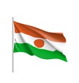 niger realistic flag vector image vector image