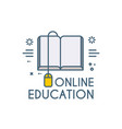 online education icon e-learning wed study vector image