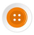 orange sewing button icon circle vector image vector image