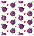 Plums seamless pattern vector image vector image