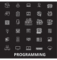 programming editable line icons set on vector image vector image