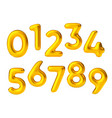 realistic golden air ballon numbers float vector image