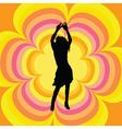 retro female dancer vector image vector image