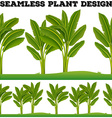 Seamles plants on the ground vector image vector image