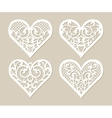 Set lacy hearts with carved openwork pattern vector image vector image