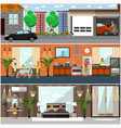 set of house posters banners in flat style vector image vector image