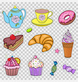 set of various sweets vector image