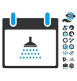 Shower Calendar Day Icon With Bonus vector image vector image
