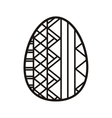 silhouette easter egg design with striped vector image