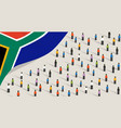 south african independence anniversary celebration vector image vector image