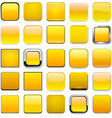 Square yellow app icons vector image