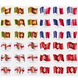 Sri Lanka France Guernsey Hong Kong Set of 36 vector image vector image