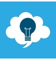 start up business cloud idea bulb graphic isolated vector image