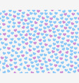 texture of small red and purple hearts template vector image vector image