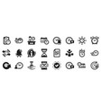 time icons set calendar management vector image vector image