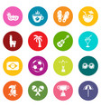 travel brazil icons set colorful circles vector image