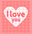 valentines day background card pink vector image vector image