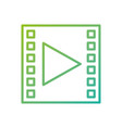 video movie player button social media vector image