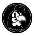 Vintage cartoon Smiling retro cartoon rooster vector image vector image