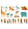 zoo flat set vector image vector image