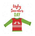 cartoon style of ugly sweater vector image
