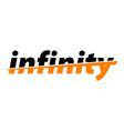 infinity word emblem vector image