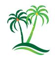 Tropical island logo vector image