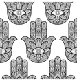 Hamsa Hand of Fatima Seamless Pattern vector image
