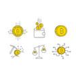 digital gold bitcoin concept icon set vector image