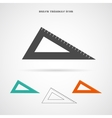 Triangle Ruler Icon vector image