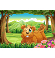A big bear at the forest vector image vector image