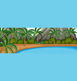 a nature panorama landscape vector image