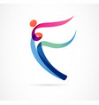 abstract human figure logo design gym fitness vector image vector image