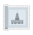 architecture plans building structure cut line vector image vector image