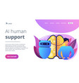 augmented intelligence concept landing page vector image vector image