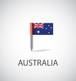 australia flag pin vector image vector image