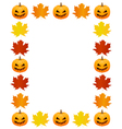 Autumn photo frame vector image