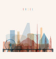 basel skyline detailed silhouette vector image vector image