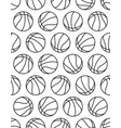 basketball contour pattern vector image vector image