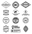 BRAND DESIGN ELEMENTS INDUSTRIAL STYLE vector image vector image