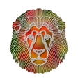 Bright colorful lion portrait zodiac Leo sign vector image vector image