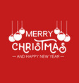 christmas quote typography bauble vector image vector image