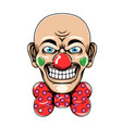 clown with skinny head and big smile vector image