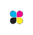 CMYK print logo concept vector image