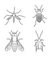 design of insect and fly sign collection vector image vector image